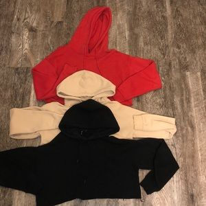 Urban outfitters cropped hoodie bundle